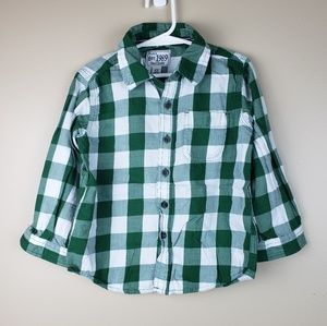 EUC Childrens Place Buffalo Check Button Down, 4T